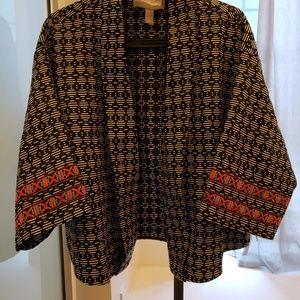 Forever 21 Ethnic Print Open Blazer Jacket XS / S